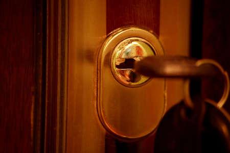 hypothec: Estate background: door, key, home