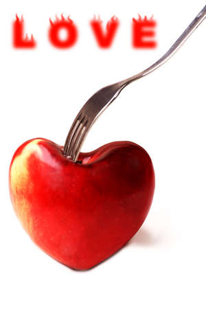 Love food background: lose weight photo