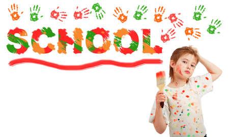 Portrait of a styled children. Theme: art, education, school Stock Photo - 2353943