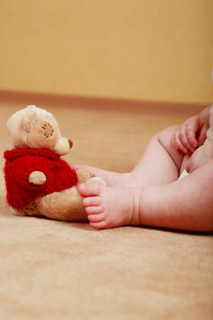 civility: Beautiful baby. Shot in a interior.  Stock Photo