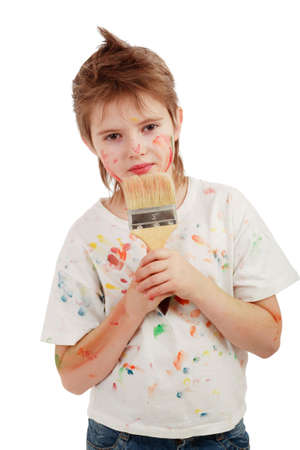 Portrait of a styled children. Theme: art, education, school Stock Photo - 2353922