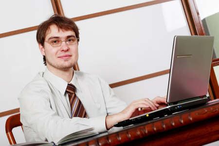 Portrait of a businessman in a working process Stock Photo - 2353911