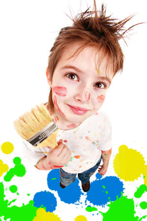 Portrait of a styled children. Theme: art, education, school Stock Photo - 2353998