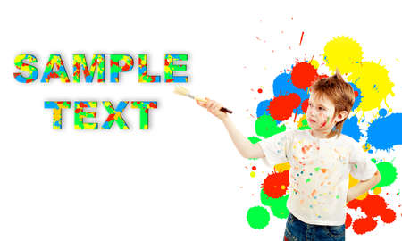 Portrait of a styled children. Theme: art, education, school. For the sample text was used pattern that your can download from my account. Stock Photo - 2354019