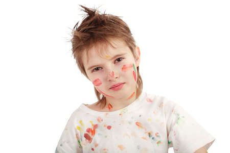 Portrait of a styled children. Theme: art, education, school Stock Photo - 2353975