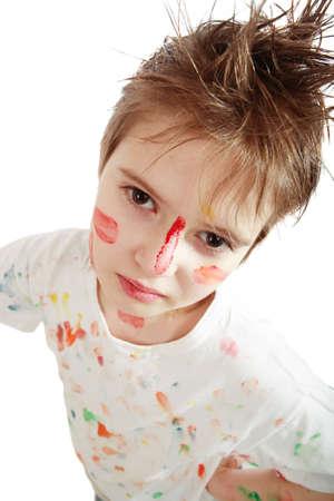 Portrait of a styled child. Theme: art, education, school Stock Photo - 2495909