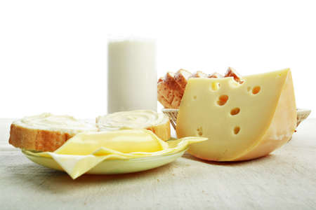 aliments: Dairy produire des denr�es alimentaires. Tourn� dans un studio.