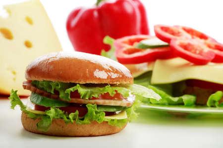 aliments: L�gumes frais - la restauration rapide des denr�es alimentaires. Tourn� dans un studio.
