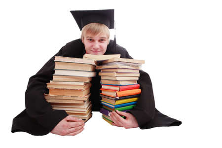 Portrait of a young people in an academic gown. Education background. Stock Photo - 2544094