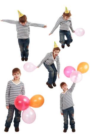 Portrait of a styled child. Theme: art, education, holidayn photo