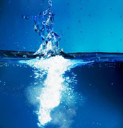 aqa: Fantastical water background. Drops, waves, splashes.