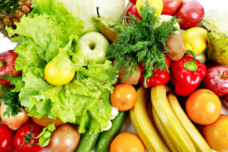 Fresh Vegetables, Fruits and other foodstuffs. Shot in a studio.  Stock Photo - 2645730