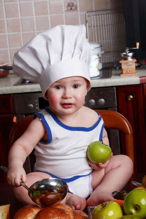 Little cook: fruits and  food Stock Photo - 2725359