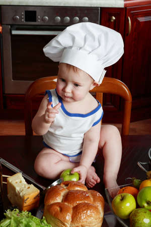 Little cook: fruits and  food Stock Photo - 2725400