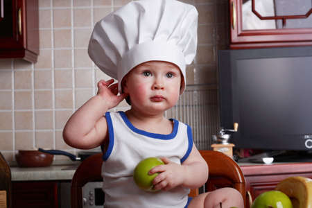 Little cook: fruits and  food Stock Photo - 2725341