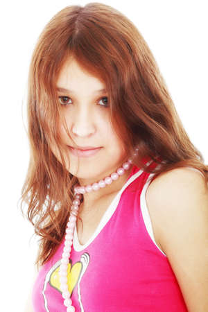 Portrait of a styled professional model. Theme: teens, beauty. Stock Photo - 2818489