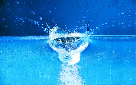 fantastical: Fantastical water background. Drops, waves, splashes.