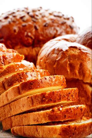 aliments: Boulangerie denr�es alimentaires. Tourn� dans un studio.  Banque d'images