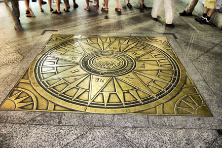 Compass rose on the floor Stock Photo - 2891321