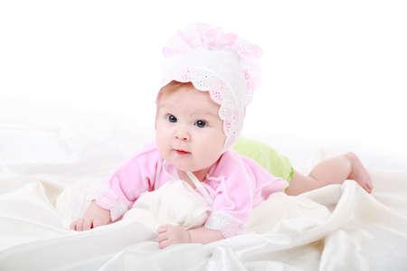 Beautiful baby. Shot in studio. Isolated on white. Stock Photo - 3017799