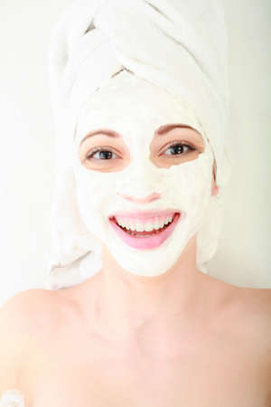 Portrait of a styled professional model. Theme: spa, healthcare, fashion Stock Photo