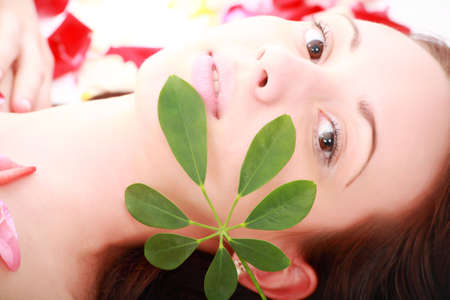 Portrait of a styled professional model. Theme: spa, healthcare, fashion Stock Photo - 3016835