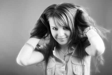 Portrait of a styled professional model. Theme: teens, beauty. Stock Photo - 3003941