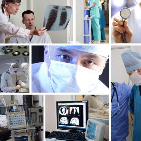 emergencia medica: Los m�dicos est�n trabajando - medicina de antecedentes. Filmada en un hospital.