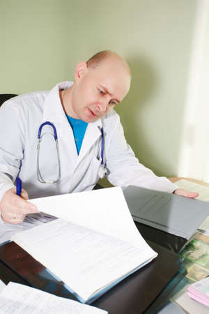 Doctors are working - medicine  background. Shot in a hospital.  photo