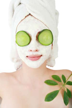 rejuvenating: Portrait of a styled professional model. Theme: spa, healthcare, fashion Stock Photo