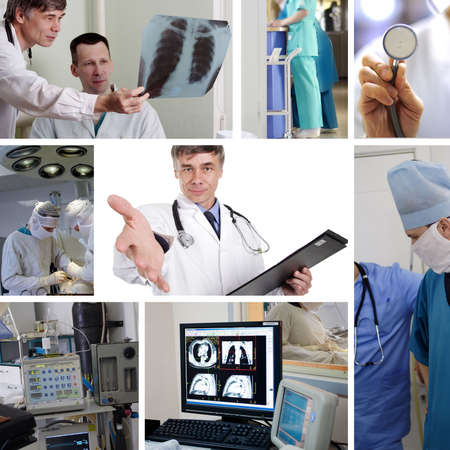 Doctors are working - medicine  background. Shot in a hospital. Stock Photo - 3064556