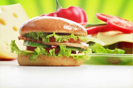 Natural form foods. Fast food. Shot in a studio.  photo