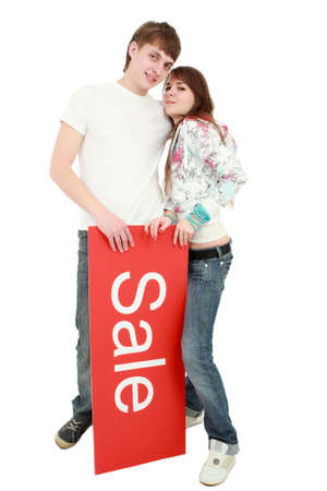 Portrait of a young people. Shot in studio. Best idea for ad sale. Stock Photo - 3262315