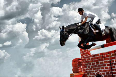 carreras de caballos: Caballo tema: jinetes, carreras de caballos, la velocidad. Foto de archivo