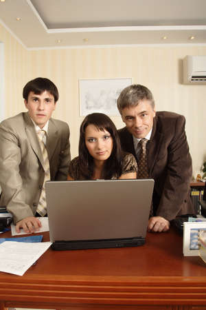 Group of business people working together in the office. Stock Photo - 3278502