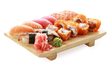 Japanese cuisine: seafoods and other photo
