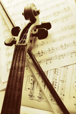 Musical background – instruments. Shot in studio.  Stock Photo