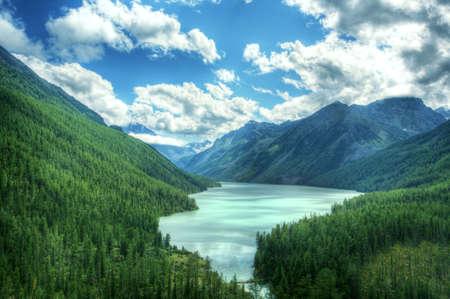 bw: Fantastic landscape. Shot in a mountain. Stock Photo