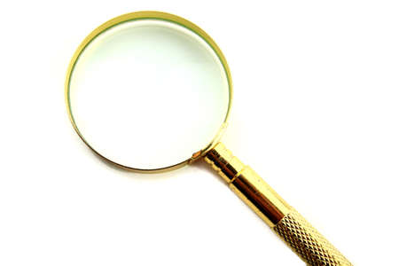 investigators: Magnifying lens isolated on white