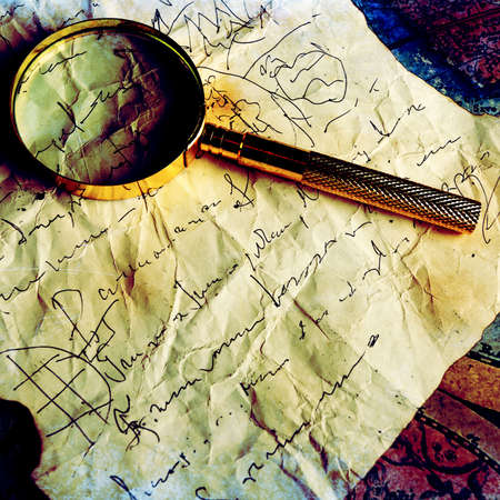 Old fashioned objects on the vintage map Stock Photo - 3526074