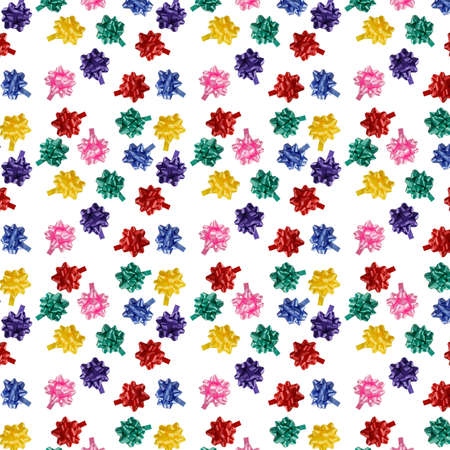 multicolored bows seamless texture - a present background  photo