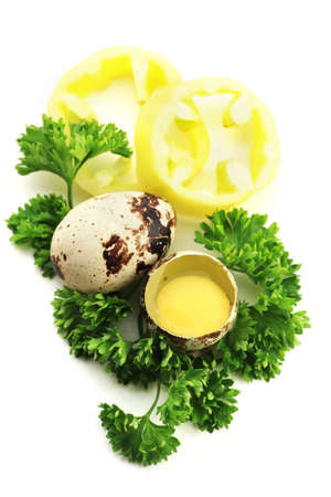 Close up view of the quail, eggs best idea for eggs and mayonnaise advertising photo