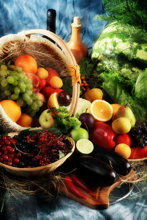 aliments: L�gumes frais, fruits et autres denr�es alimentaires. Vaste collection