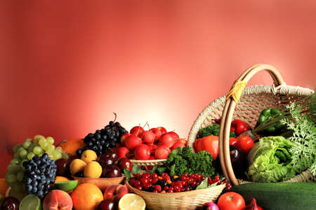 fruits basket: Fresh Vegetables, Fruits and other foodstuffs. Huge collection