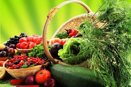 Fresh Vegetables, Fruits and other foodstuffs. Huge collection Stock Photo - 3681123