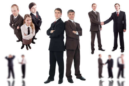 finance director: Group of business people working together in the office.