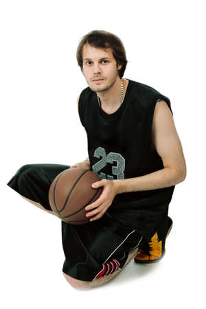 trained: Portrait of a styled professional model. Basketball