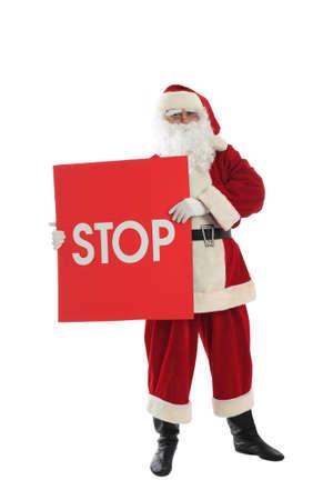 Xmas  background: Santa Claus, gifts, Stock Photo - 3909201