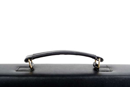 Business black bag isolated on white photo