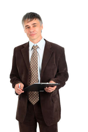 Business background: handsome businessman in a work process. Stock Photo - 3965899